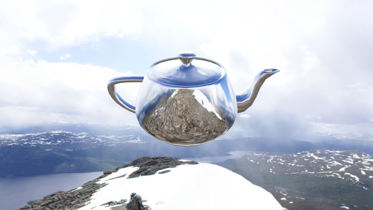 Reflected environment mapped teapot