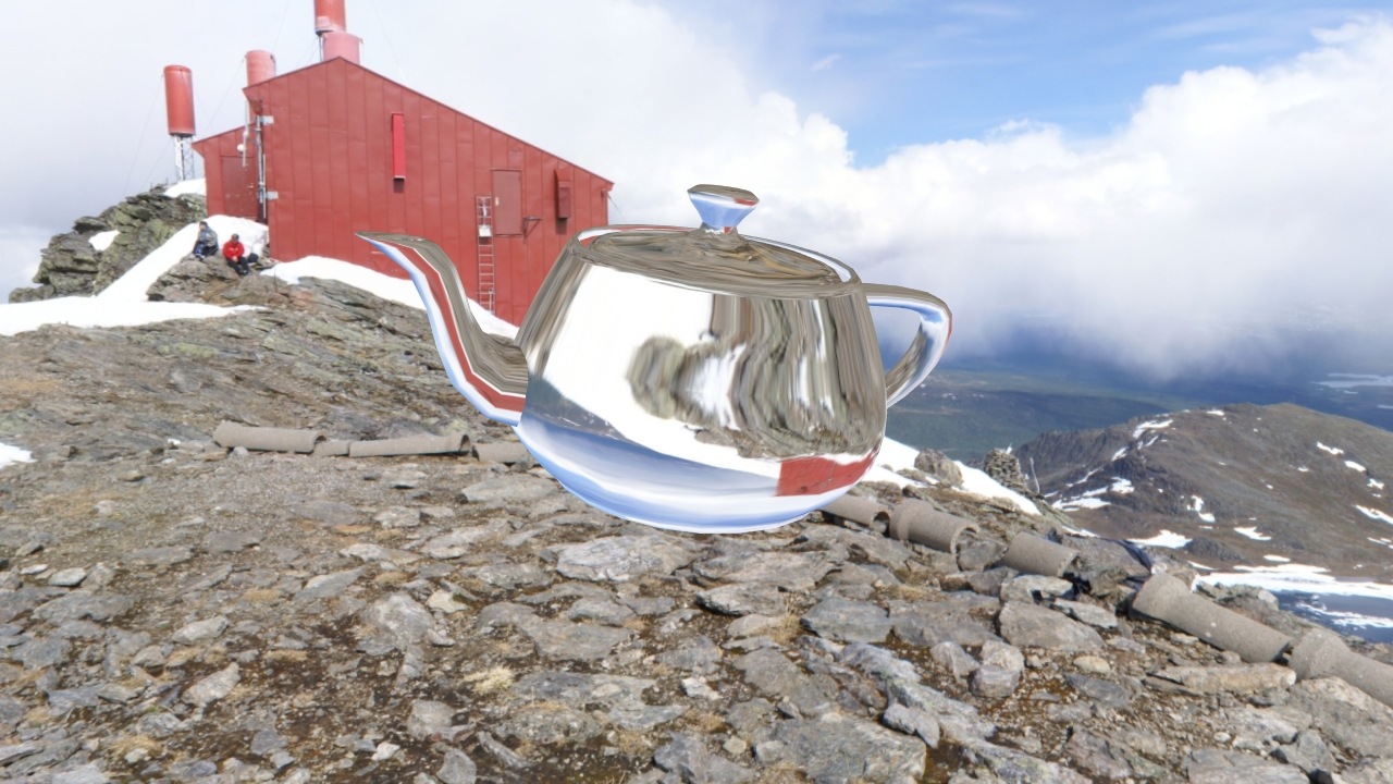 Refracted environment mapped teapot